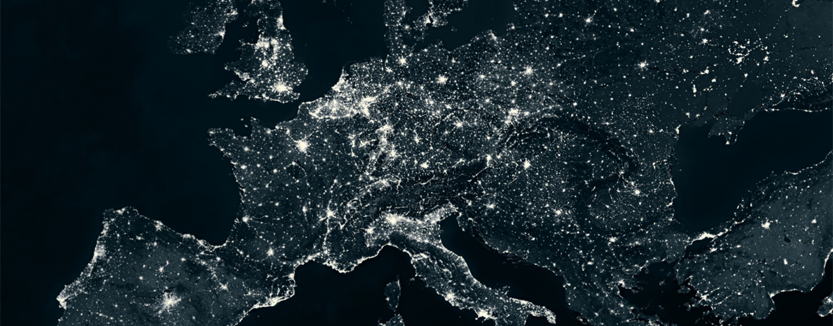 map of the world from space at night